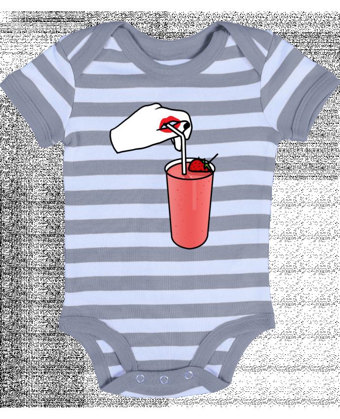 Body Bébé à Rayures Milk shake - tattooanshort