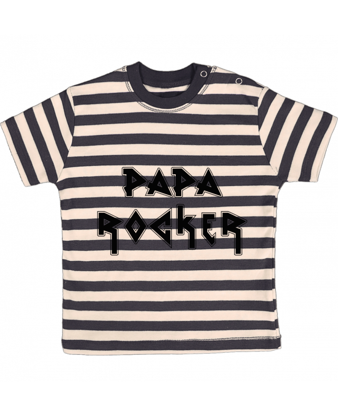T-shirt Bébé à Rayures Papa rocker par tunetoo