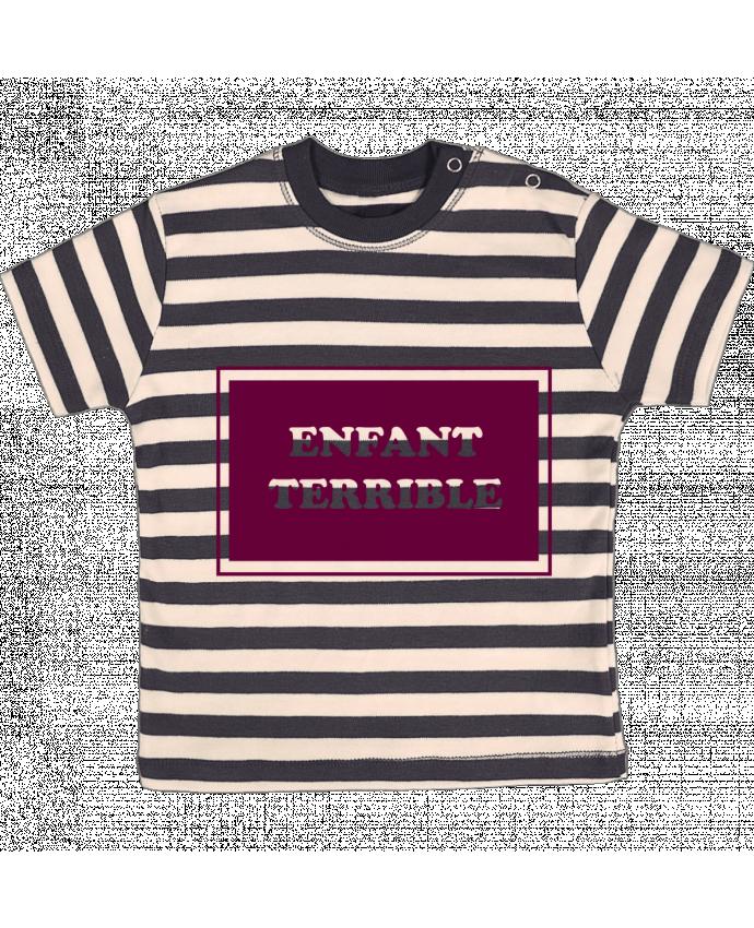 T-shirt Bébé à Rayures Enfant terrible par tunetoo