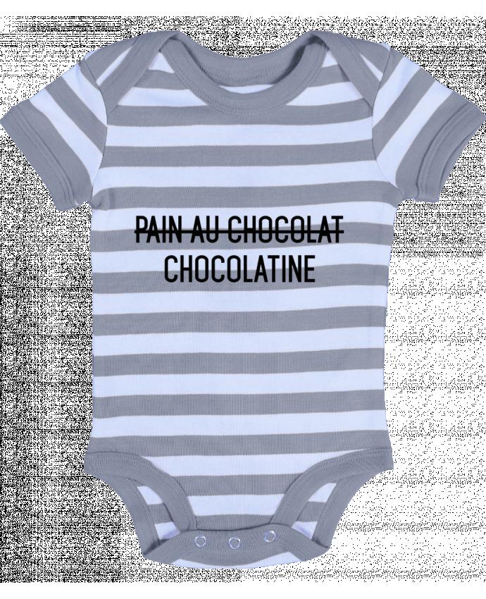 Body Bébé à Rayures Chocolatine - tunetoo
