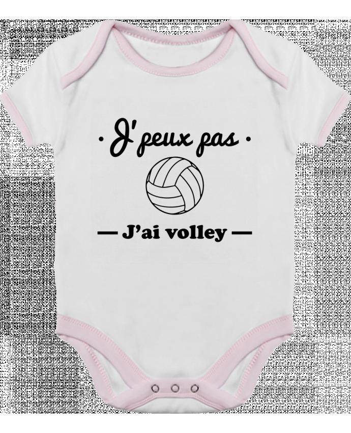 Body Bébé Contrasté J'peux pas j'ai volley , volleyball, volley-ball par Benichan