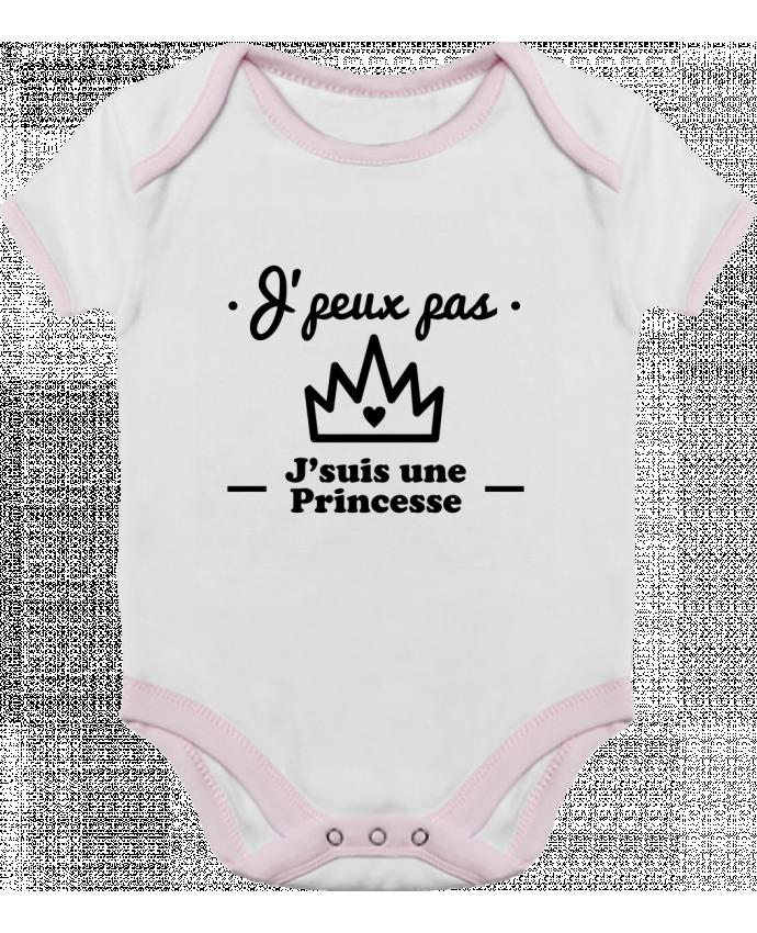 Body Bébé Contrasté J'peux pas j'suis une princesse, humour, citations, drôle par Benich