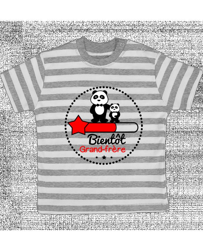 T-shirt Bébé à Rayures Bientôt grand-frère , futur grand frère par Benichan