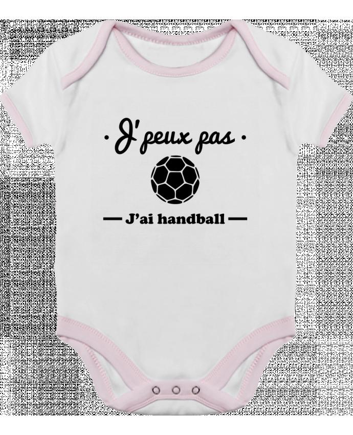 Body Bébé Contrasté J'peux pas j'ai handball ,  tee shirt handball, hand par Benichan