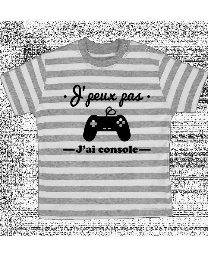 T-shirt Bébé à Rayures J'peux pas j'ai console ,geek,gamer,gaming par Benichan