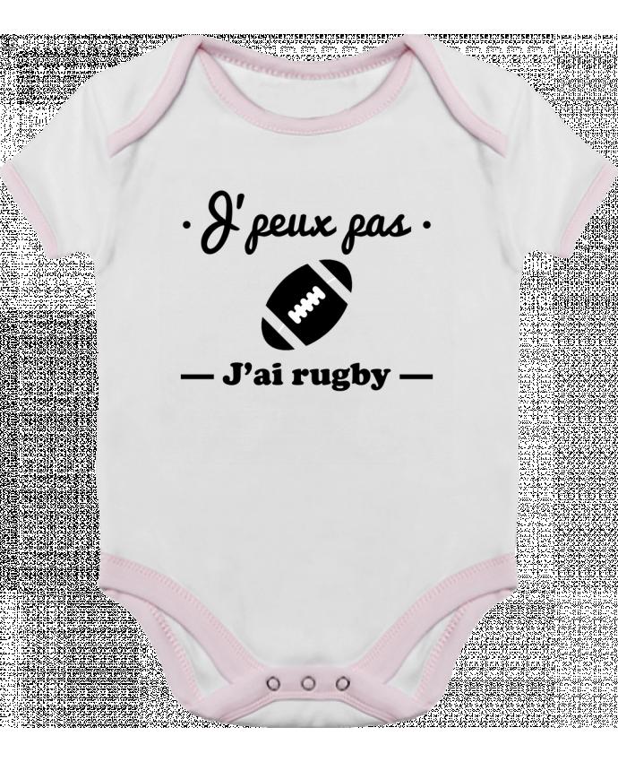 Body Bébé Contrasté J'peux pas j'ai rugby par Benichan