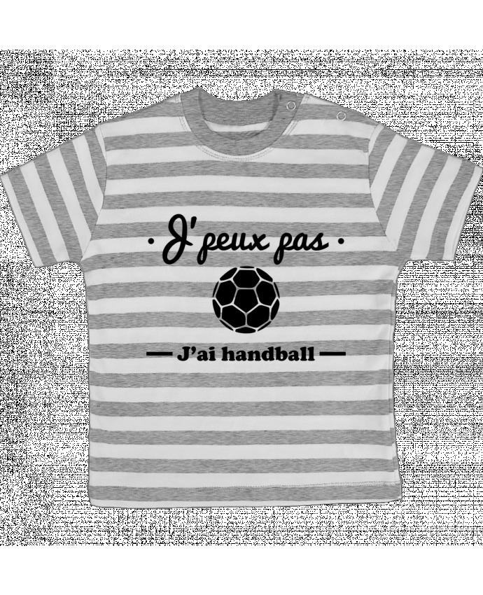 T-shirt Bébé à Rayures J'peux pas j'ai handball ,  tee shirt handball, hand par Benichan