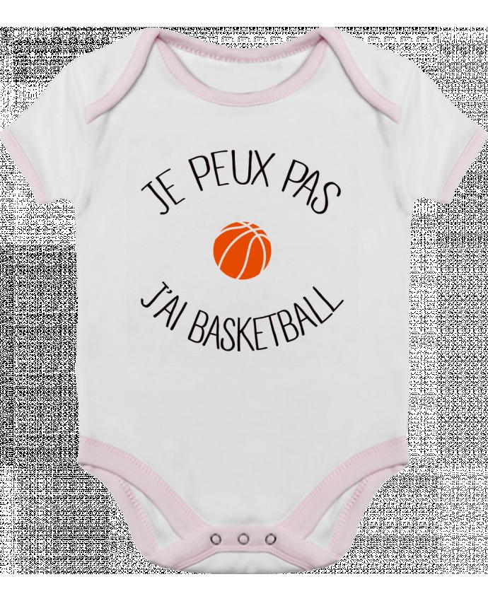Body Bébé Contrasté je peux pas j'ai Basketball par Freeyourshirt.com