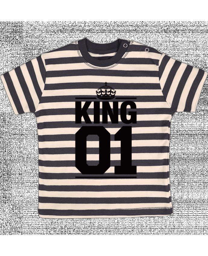 T-shirt Bébé à Rayures King 01 par Freeyourshirt.com
