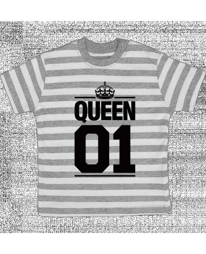 T-shirt Bébé à Rayures Queen 01 par Freeyourshirt.com