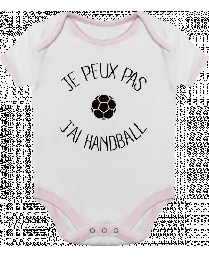 Body Bébé Contrasté Je peux pas j'ai Handball par Freeyourshirt.com