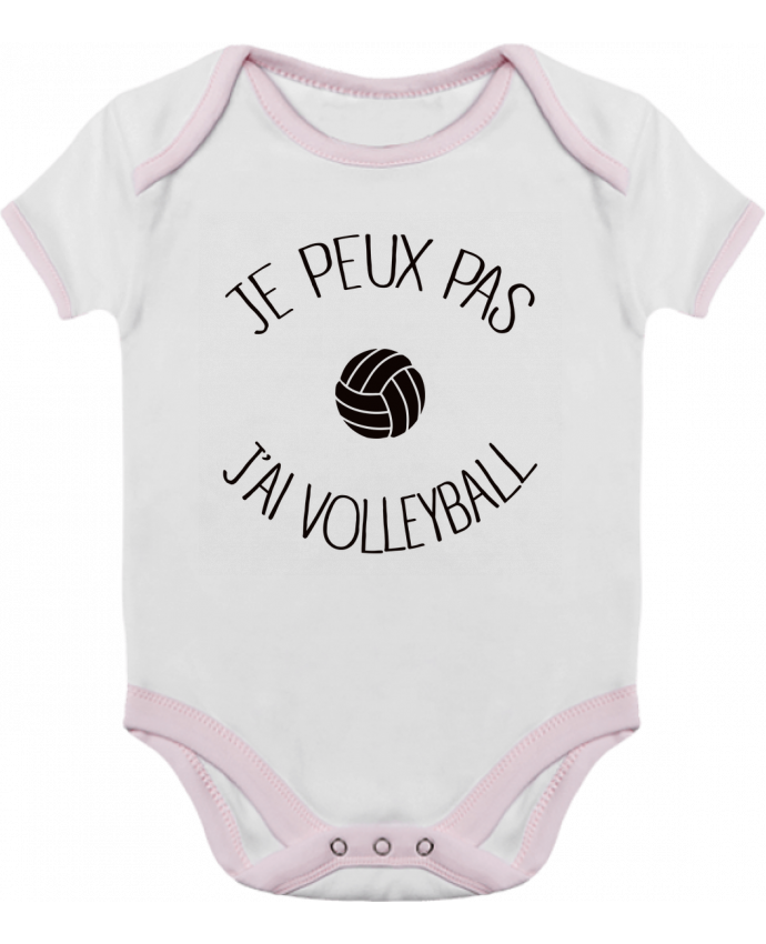 Body Bébé Contrasté Je peux pas j'ai volleyball par Freeyourshirt.com