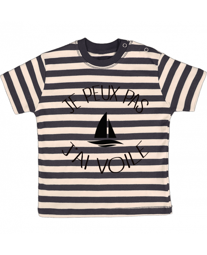 T-shirt Bébé à Rayures Je peux pas j'ai voile par Freeyourshirt.com