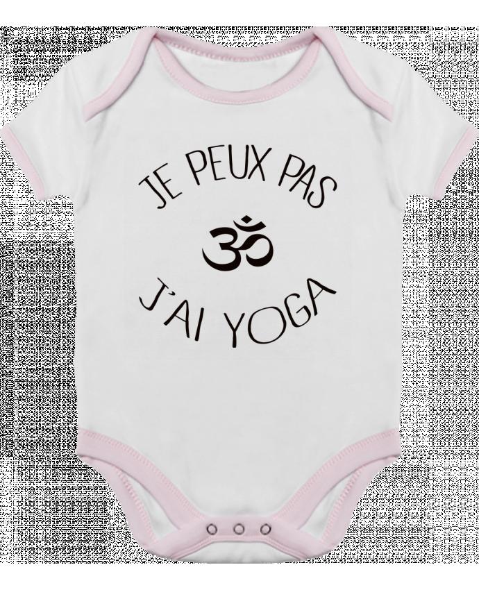 Body Bébé Contrasté Je peux pas j'ai Yoga par Freeyourshirt.com