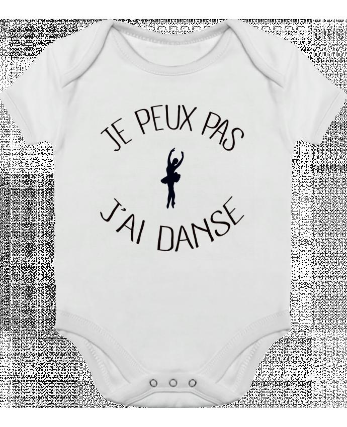 Body bébé manches contrastées Je peux pas j'ai Danse par Freeyourshirt.com