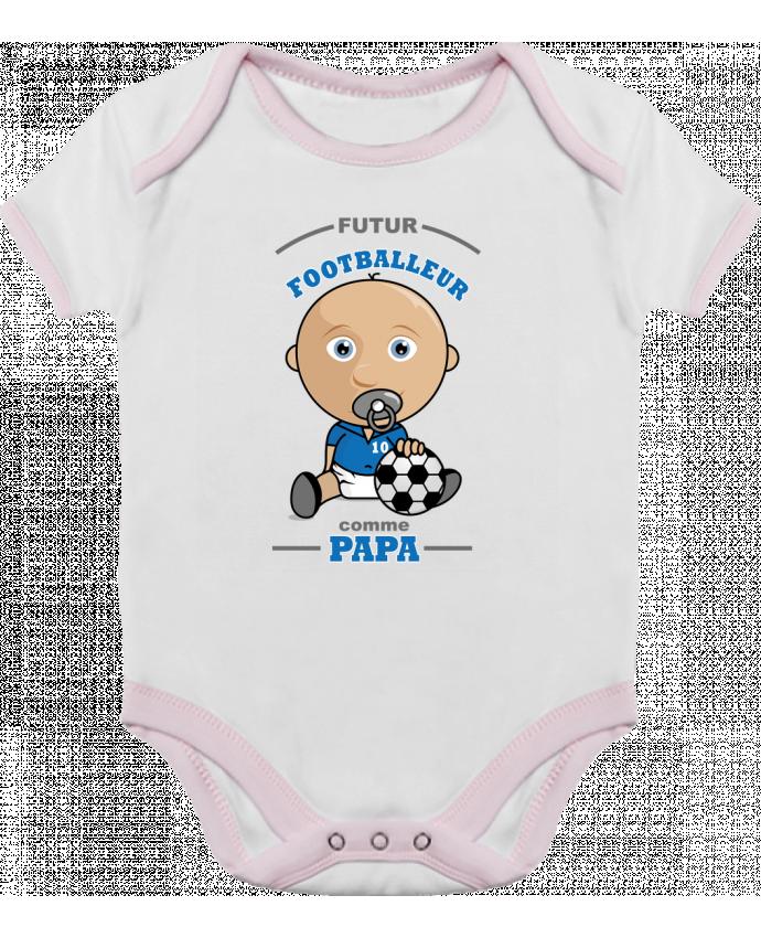 Body Bébé Contrasté Futur Footballeur comme papa par GraphiCK-Kids