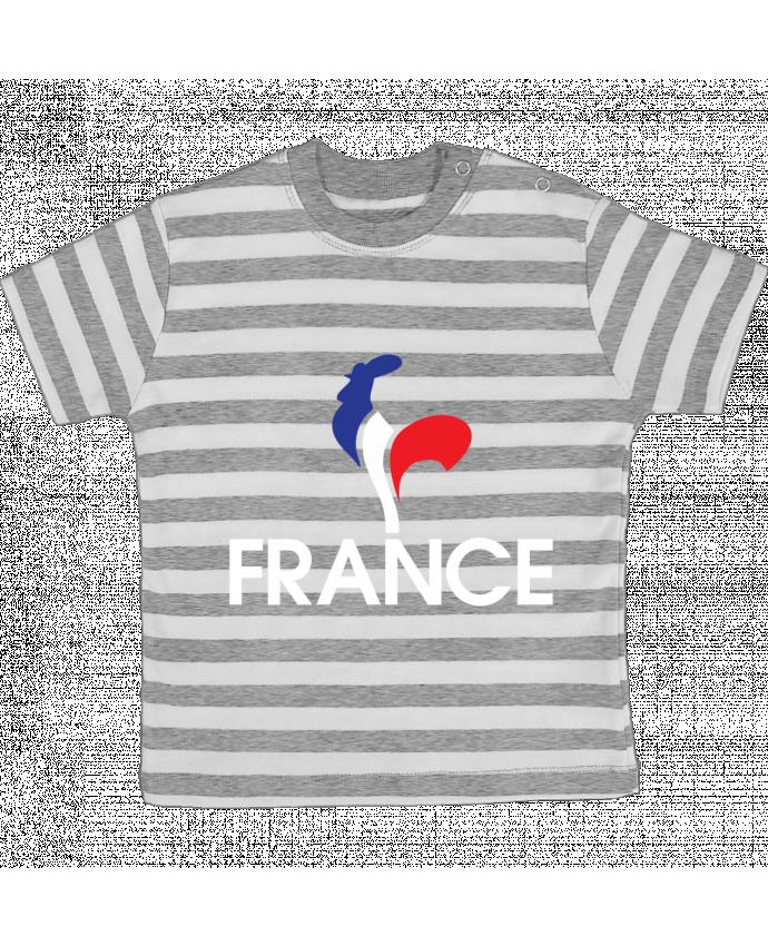 T-shirt Bébé à Rayures France et Coq par Freeyourshirt.com
