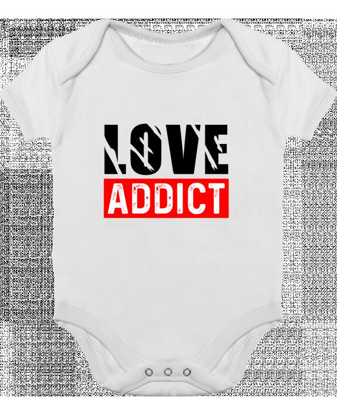 Body bébé manches contrastées Love Addict par Sole Tshirt