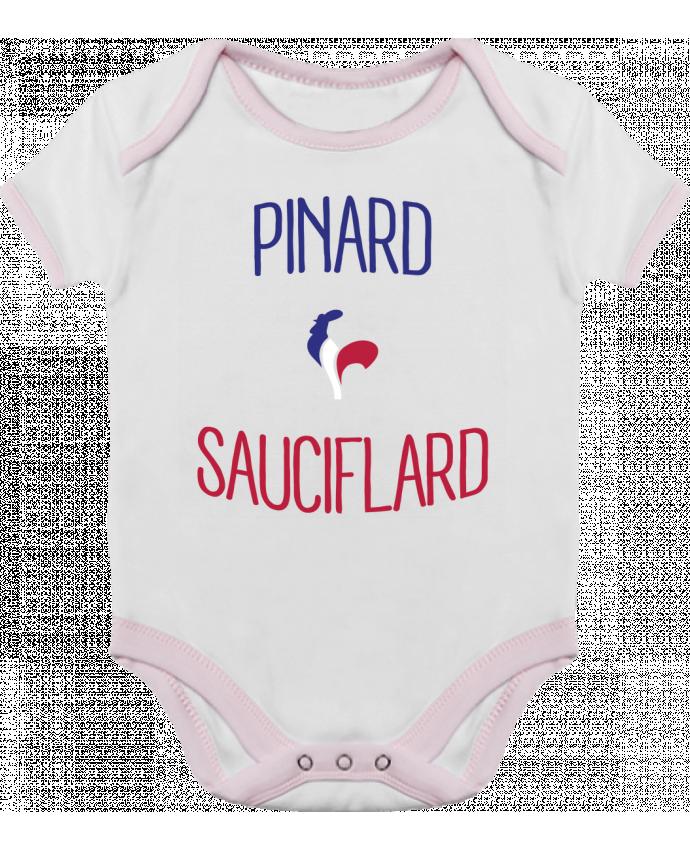 Body Bébé Contrasté Pinard Sauciflard par Freeyourshirt.com