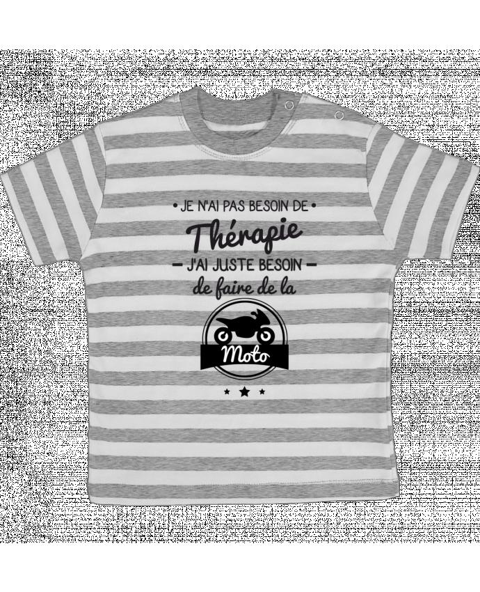 T-shirt Bébé à Rayures J'ai juste besoin de ma moto, tee shirt moto, motard par Benichan