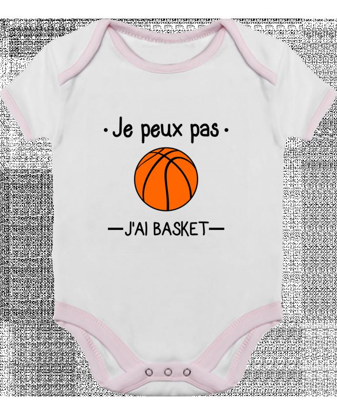Body Bébé Contrasté Je peux pas j'ai basket,basketball,basket-ball par Benichan