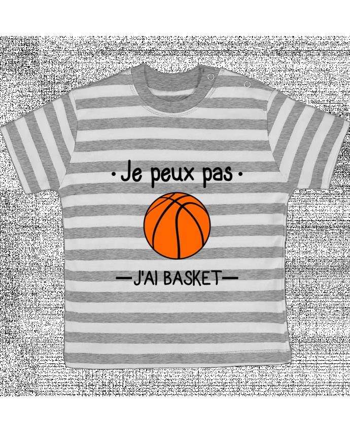 T-shirt Bébé à Rayures Je peux pas j'ai basket,basketball,basket-ball par Benichan