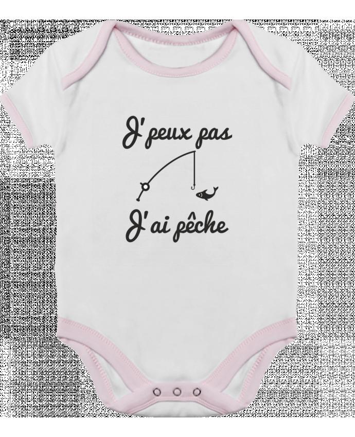Body Bébé Contrasté J'peux pas j'ai pêche,tee shirt pécheur,pêcheur par Benichan