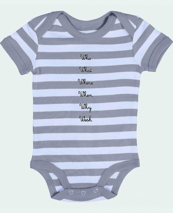 Body Bébé à Rayures 5W - tattooanshort