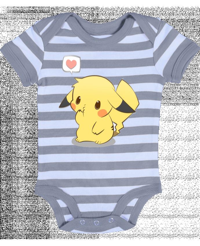 Body Bébé à Rayures Pikachu Love - Ketsøu