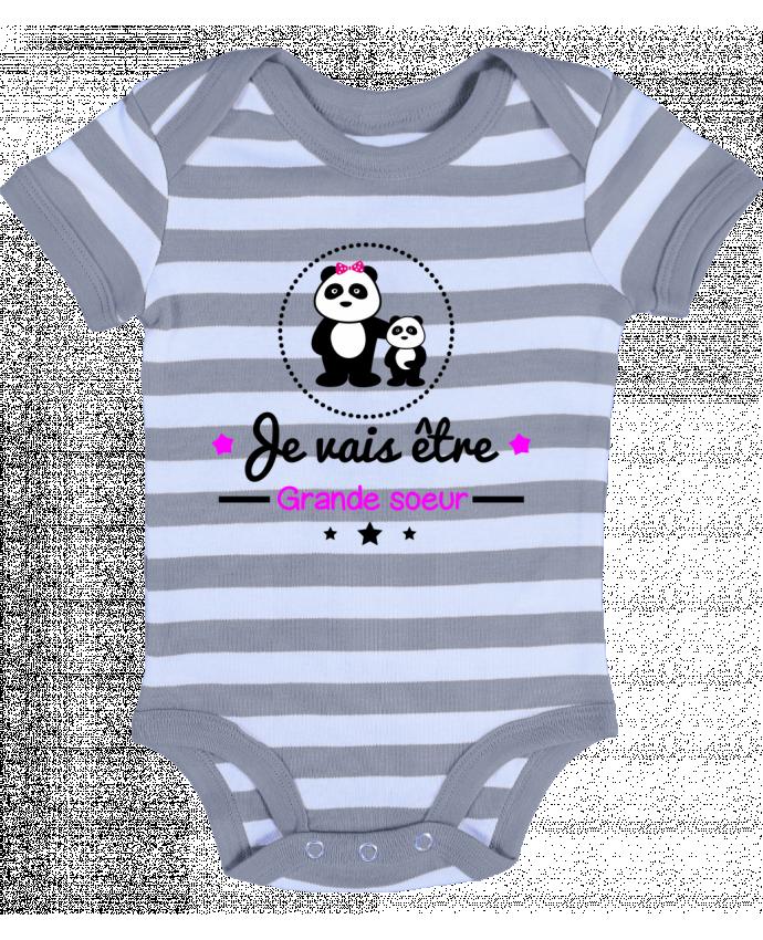 Body Bébé à Rayures Bientôt grande soeur - Future grande soeur - Benichan