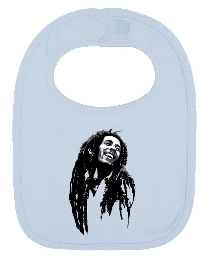 Bavoir Uni et Contrasté Bob Marley par Graff4Art