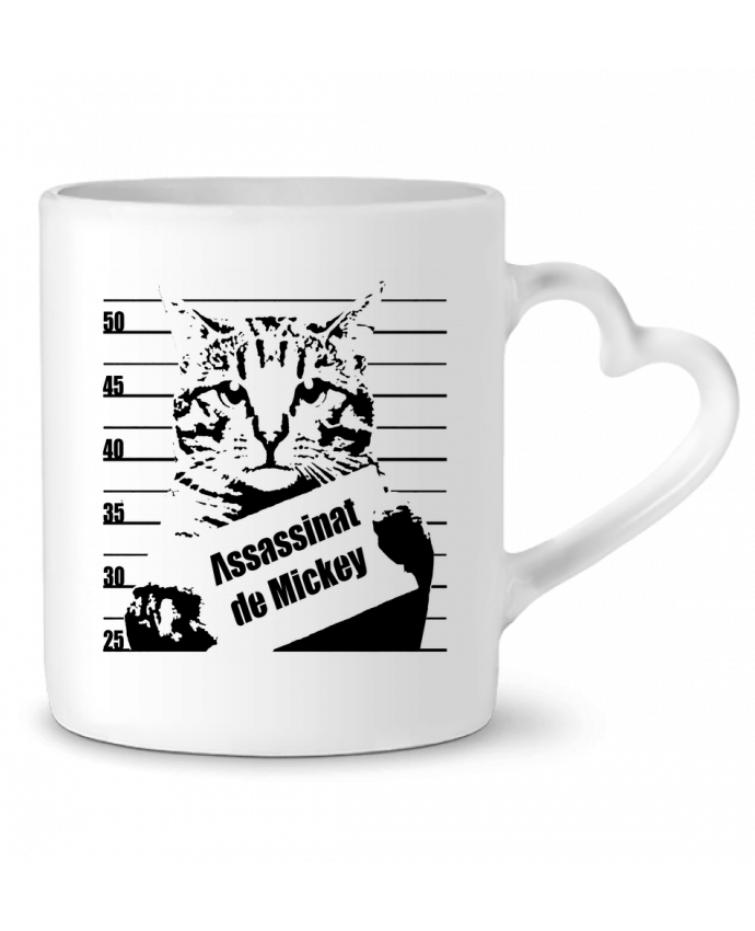 Mug Coeur Chat wanted par Graff4Art