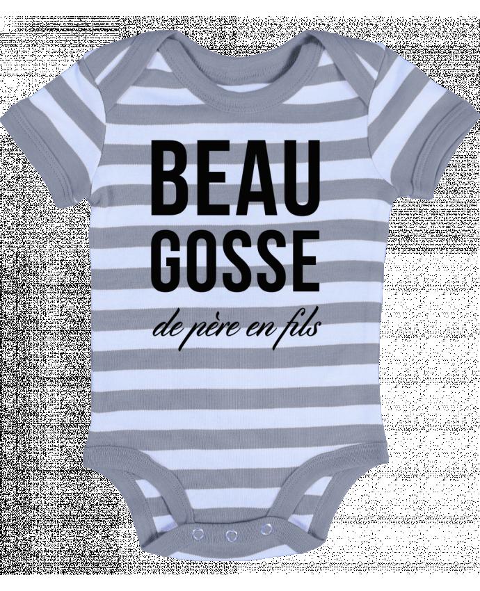 Body Bébé Rayé Beau gosse de père en fils - tunetoo