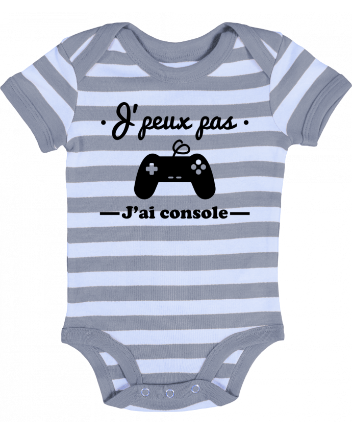 Body Bébé Rayé J'peux pas j'ai console ,geek,gamer,gaming - Benichan