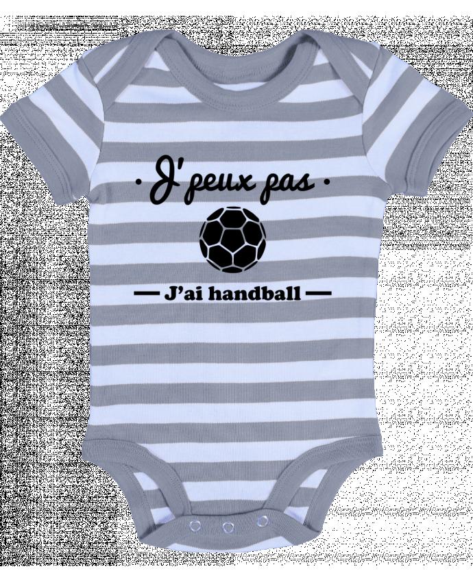 Body Bébé à Rayures J'peux pas j'ai handball ,  tee shirt handball, hand - Benichan