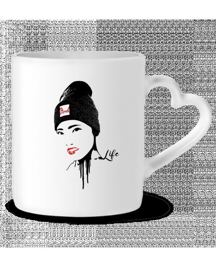 Mug Coeur Geisha par Graff4Art