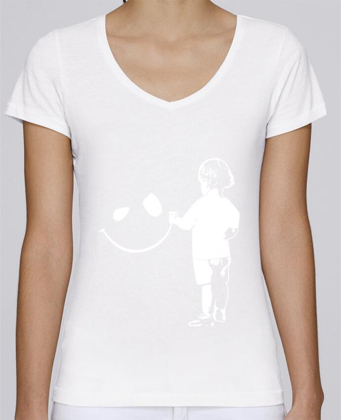 T-shirt Femme Col V Stella Chooses enfant par Graff4Art