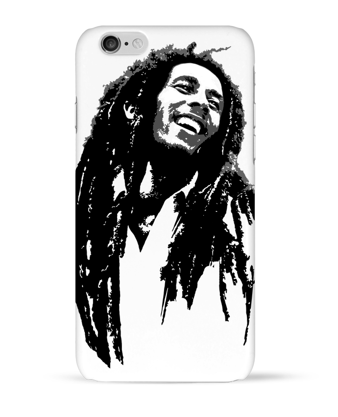 1343299 coque 3d iphone 6 blanc bob marley by graff4art