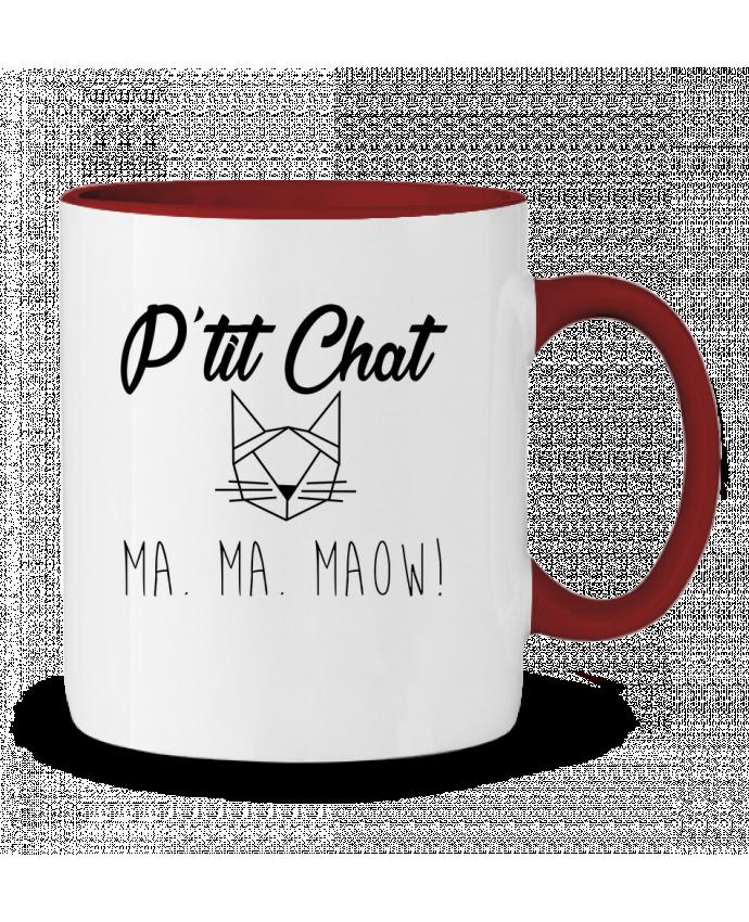Mug en Céramique Bicolore p'tit chat zdav