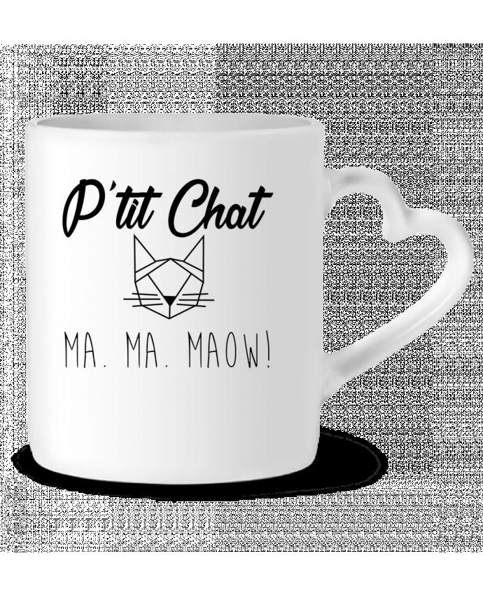 Mug Coeur p'tit chat par zdav