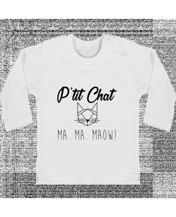 T-shirt Bébé Manches Longues Boutons Pression p'tit chat manches longues du designer zdav