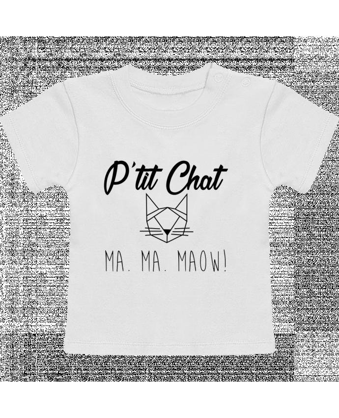 T-Shirt Bébé Manches Courtes p'tit chat manches courtes du designer zdav