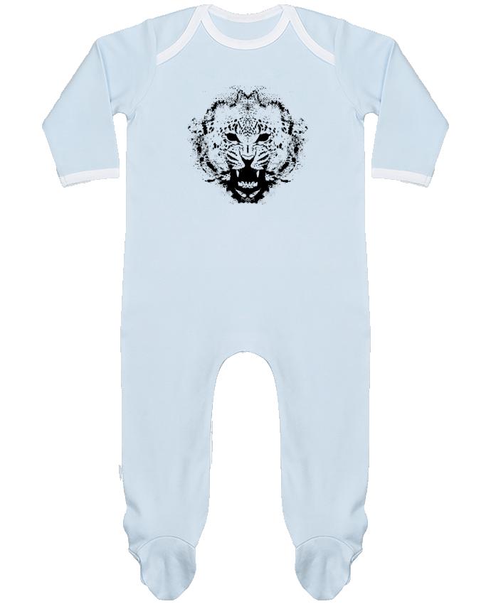 Pyjama Bébé Manches Longues Contrasté leopard par Graff4Art