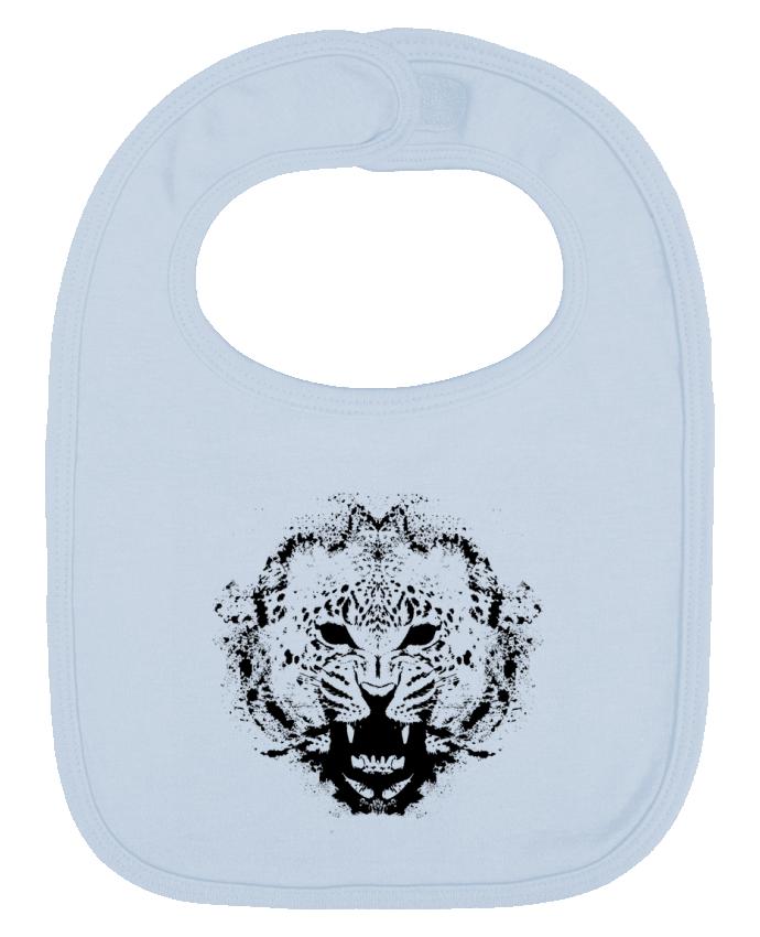 Bavoir Uni et Contrasté leopard par Graff4Art