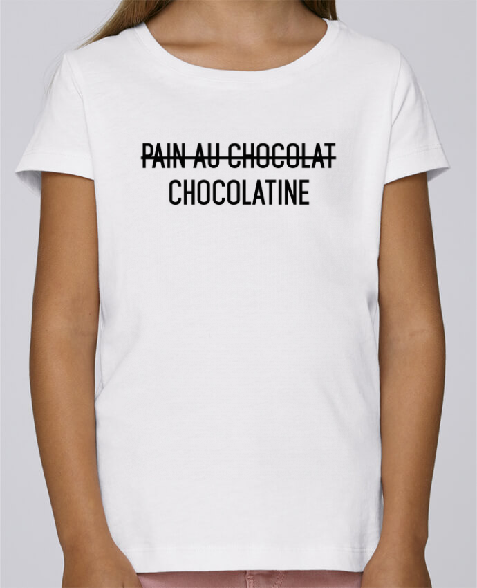 T-shirt Fille Mini Stella Draws Chocolatine par tunetoo