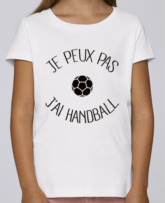 T-shirt Fille Mini Stella Draws Je peux pas j'ai Handball par Freeyourshirt.com