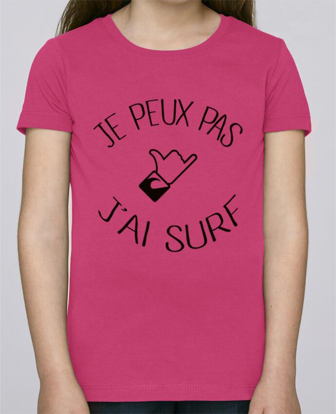 T-shirt Fille Mini Stella Draws Je peux pas j'ai surf par Freeyourshirt.com