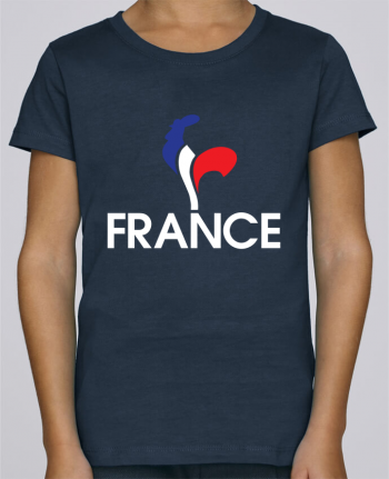 T-shirt Fille Mini Stella Draws France et Coq par Freeyourshirt.com