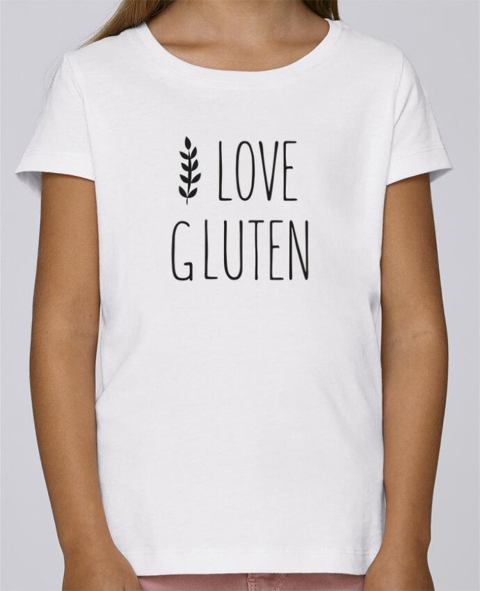 T-shirt Fille Mini Stella Draws I love gluten by Ruuud par Ruuud