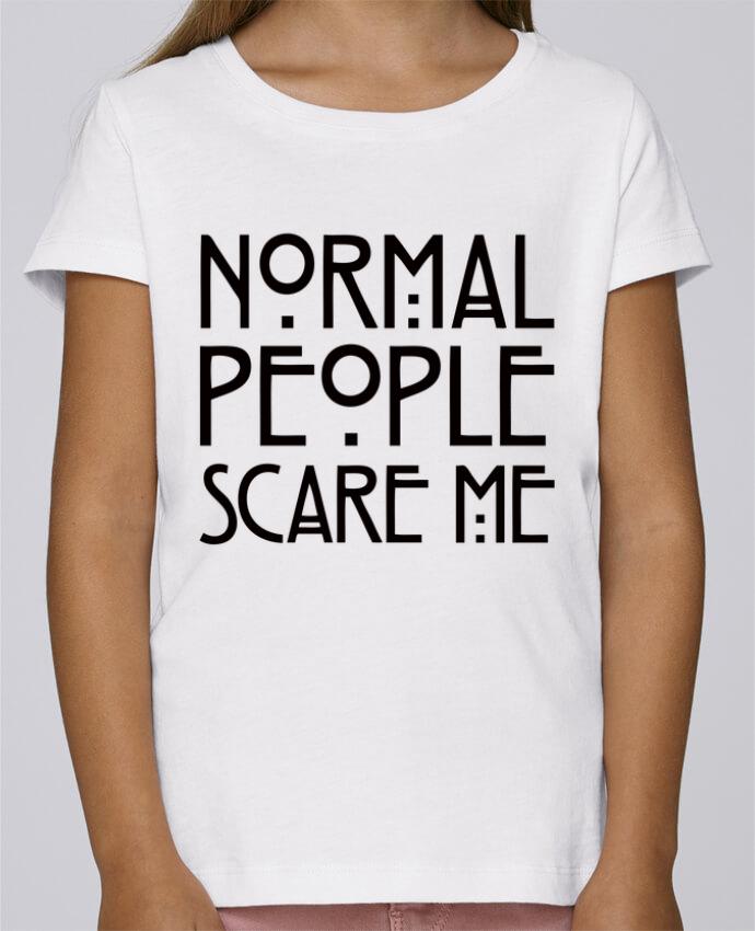 T-shirt Fille Mini Stella Draws Normal People Scare Me par Freeyourshirt.com